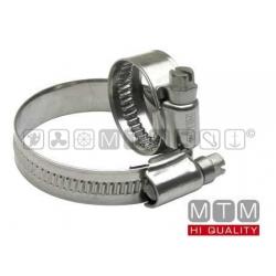 fascetta stringitubo inox banda 12mm 50/70mm