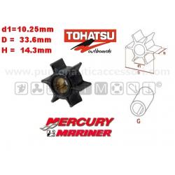 girante MERCURY/MARINER 2.5/3.5/4/5/6 4TTOHATSU 2T(M3.5B/M4C/M5B) 4T(MFS2.5C/MFS3.5C/MFS4C/MFS5C/MFS6C)