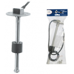 Galleggiante verticale inox x carburante a movimento assiale L.28cm.segnale in ohms 240/33