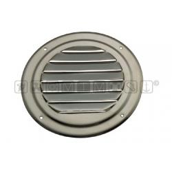 Griglia areazione inox tonda in acciaio inox diam.125mm