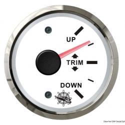 Indicatore trim 0-190 Ohm bianco/lucida universale