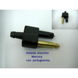 attacco benzina maschio mercury p/gomma diam.8mm