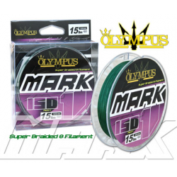 multifibre OLYMPUS Braided Mark 1 0,16-150mt verde scuro(car.rottura kg.9,07-20 lbs)