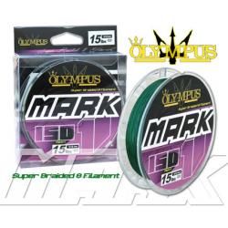 multifibre OLYMPUS Braided Mark 1 0,20-150mt verde scuro(car.rottura kg.11,34-25 lbs)