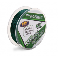 multifibre JAPAN BRAID 4 fili 0,22-150mt (c.rott.12,7kg-28lbs) verde