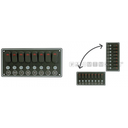 pannello 8 int. orizz/verticale 240mmx115mm (8 int. led da 15A)
