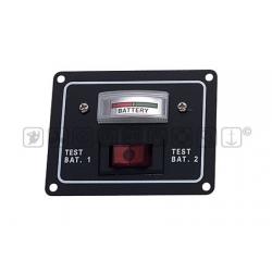 Pannello Tester per il controllo di 2 batterie* 12V