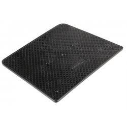 piastra salvapoppa 30x22cm plastica nera