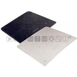 piastra salvapoppa 45x36cm plastica nero