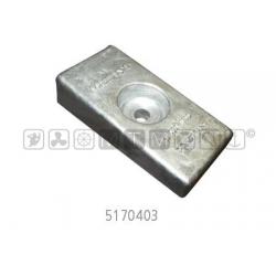 anodo HONDA alu piastrina gambo 75/130 vecchi mis.71x35xH17-12mm