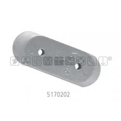 anodo JOHNSON/EVINRUDE alu piastrina 2 fori 61x22mm H12mm motori da 2 a 150cv