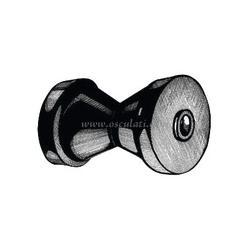 rullo centrale regg.chiglia mm80-l130 foro 16
