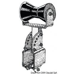 Rullo centrale reggichiglia 80x80 mm con supporto regolabile