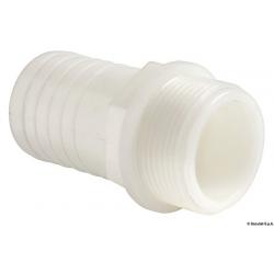 "raccordo portagomma nylon bianco 1""1/2 maschio per tubo 38mm"