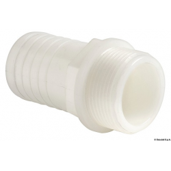 "raccordo Portagomma nylon bianco 1""1/4 maschio per tubo da 38mm"