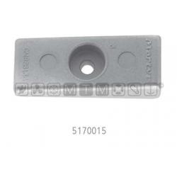 anodo MERCURY/HONDA alu piastrina gambo mis.76 x 29 x H22-12mm