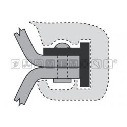 supporto T1 per profili H 35mm barra da 2 metri(per ns profilo 1-200)