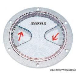 tappo ispezione trasp ghiera bianca apertura 125mm esterno 172mm