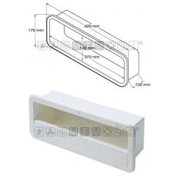 tasca laterale portaoggetti ABS bianco versione midi 420x170x100mm