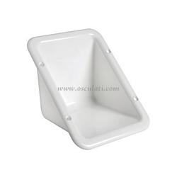 Vano ad incasso in plastica bianca per alloggiamento tappo di rifornimentosporgenza 78mm cornice 182x136mm