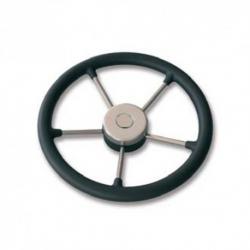 volante poliuretano nero 350mm 5 razze inox