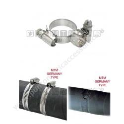 fascetta stringitubo inox banda 9mm 10/16mm