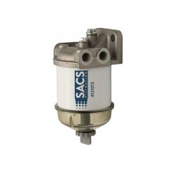 Filtro separatore diesel SACS 55s con coppa trasparente e spurgo.