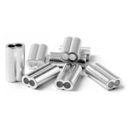 rivetti doppi alluminio per filo d.2,10 (bs.20pz)