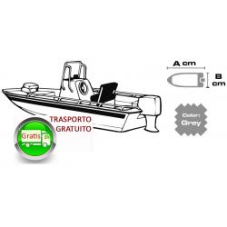 copribarca Per Lungh. Barche 700/780cm largh.barca 270cm tessuto 600 denari (XXXL) GRIGIO