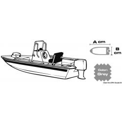 copribarca Per Lungh. Barche 630/710cm largh.barca 260cm tessuto 600 denari (XXL) GRIGIO