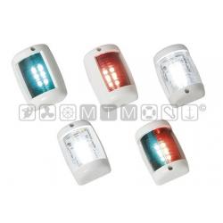 fanale LED 12m verde 112,5° plastica bianca