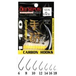 amo OLYMPUS serie 123/N n.6 carbon gambo lungo dritto paletta (bs.10pz.)