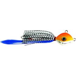 artificiale KABURA col.01 (testa bianco/arancio - paglietta azzurra) 100gr