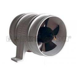 Aspiratore/ventilatore assiale lunghezza 130 - bocca 75mm 12v