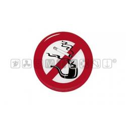 adesivo divieto di fumo in rilievo diam.80mm