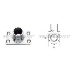 Base pulpito inox ret/drit d22 pesante