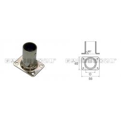 Base pulpito inox ret/drit d22*