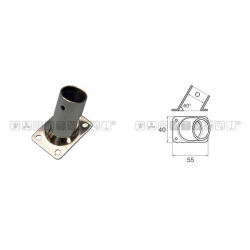 Base pulpito inox ret/inc 60° d25