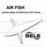 aeroplanino AIR FISH 13cm 40gr scorrevole bianco