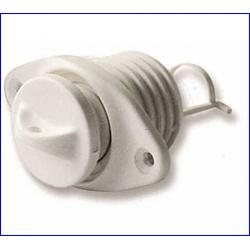 boccola scarico ovale c/tappo sic.a vite bianco d26.3mm