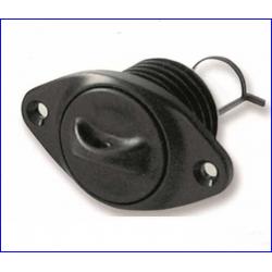 boccola scarico ovale c/tappo sic.a vite nero d26.3mm