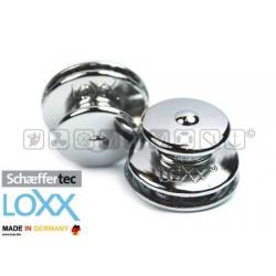 Bottone Loxx/Tenax femmina con corpo in ottone cromato nichelato e molla Inox.
