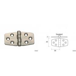 cerniera inox 43x76 spess.2mm nodo standard