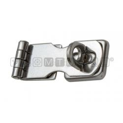 Chiusura porta lucchetto a ribalta con occhiello girevole in Acciaio Inox mis 71x28mm*