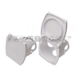 contenitore incasso per doccetta Foro incasso 78 x 68 mm - Esterno 97 x 87 mm - Profondità 77 mm.