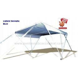 cappottina 3a 190cm 190x140 telo blu tubo Ø22mm