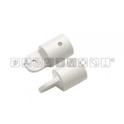 cappuccio terminale nylon bianco Ø22mm
